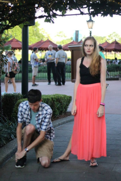 """looking annoyed that Chris was """"tying his shoe""""...!!"""